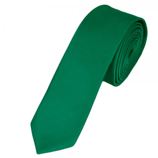 Plain Emerald Green Skinny Tie from Ties Planet UK