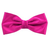 Plain Fuchsia Pink Bow Tie from Ties Planet UK