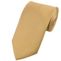 Plain Gold Beige Woven Silk Tie from Ties Planet UK