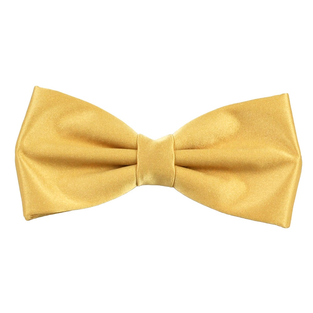 Plain Gold Bow Tie from Ties Planet UK