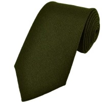 Plain Green Wool Tie from Ties Planet UK