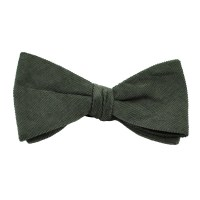 Plain Grey Corduroy Bow Tie from Ties Planet UK