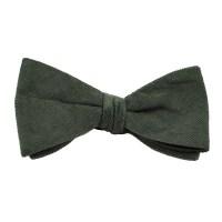 Plain Grey Corduroy Bow Tie from Ties Planet UK