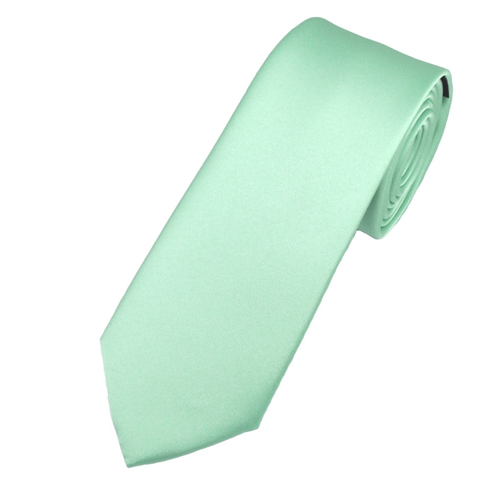 Plain Magic Mint 6cm Skinny Tie from Ties Planet UK