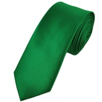Plain Mid Green 6cm Skinny Tie from Ties Planet UK