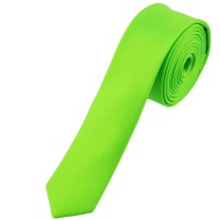 Plain Neon Green Super Skinny Tie from Ties Planet UK