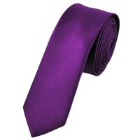 Plain Bright Purple Skinny Tie from Ties Planet UK
