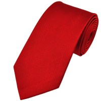 Plain Red Silk Tie from Ties Planet UK