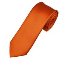 Plain Rust Orange 6cm Skinny Tie from Ties Planet UK