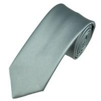 Plain Silver-Grey Boys Tie from Ties Planet UK