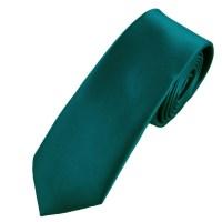 Plain Teal Green Boys Skinny Tie from Ties Planet UK