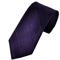 Purple & Black Checked Silk Tie from Ties Planet UK