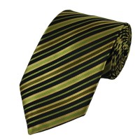 Shades of Green & Black Striped Tie from Ties Planet UK