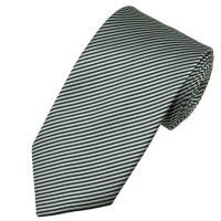 Silver & Charcoal Grey Striped Men's Tie from Ties Planet UK