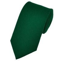 Van Buck Plain Hunter Green Lambswool Tie from Ties Planet UK
