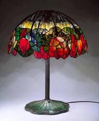 The Pink Lotus lamp, a design of Tiffany Studios New York