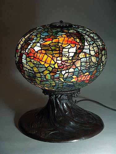 "16"" Fish Bowl Tiffany Lamp #341"