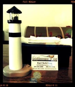 Lighthouse Kaleidoscope with Black Stripe By NJ Kaleidoscopes
