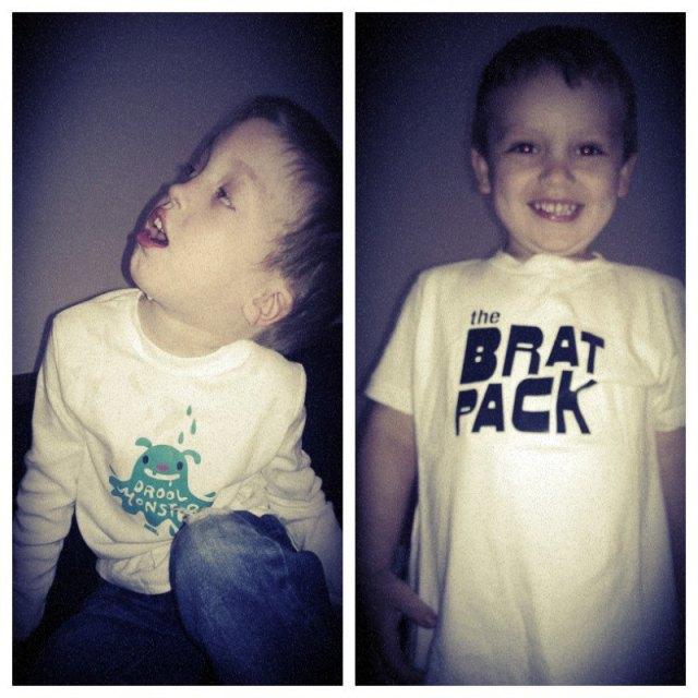 My boys in their shirts