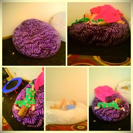 Purple Zebra Bean Bag