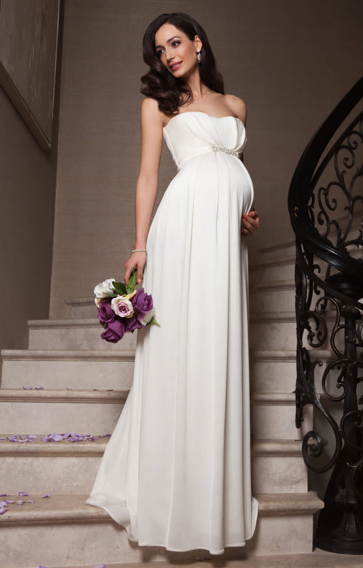 Annabella Maternity Wedding Gown (Ivory) ivory wedding dress Annabella Maternity Wedding Gown Ivory by Tiffany Rose