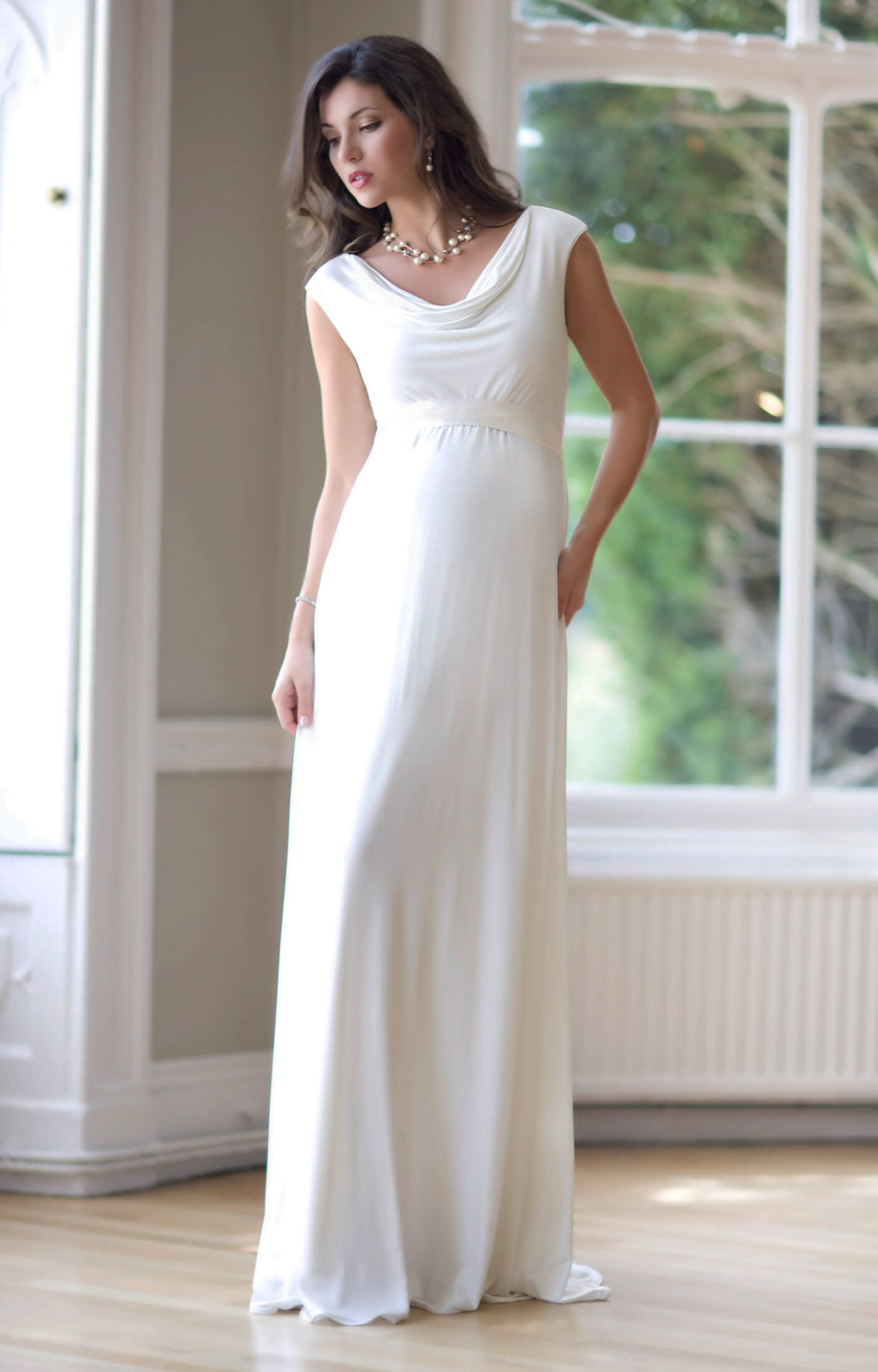 Liberty Maternity Wedding Gown Ivory By Tiffany Rose