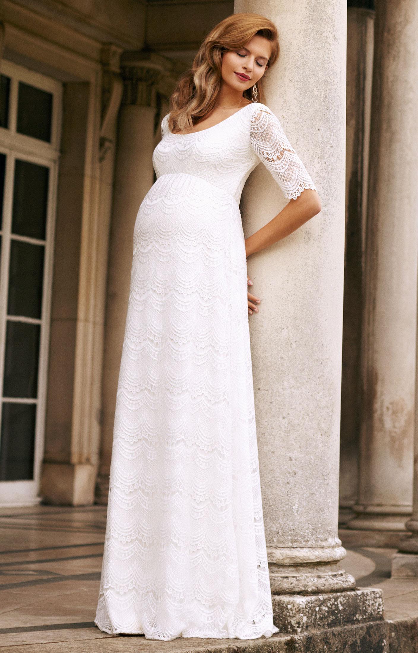 Verona Maternity Wedding Gown (Ivory) ivory wedding dresses Verona Maternity Wedding Gown Ivory by Tiffany Rose