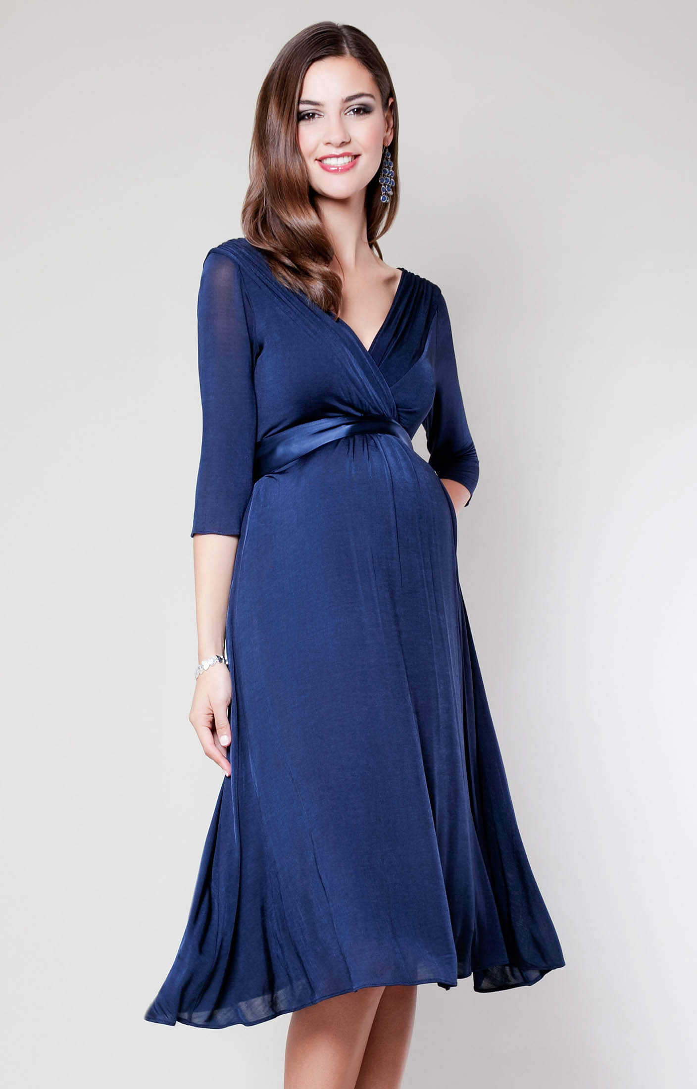 Willow Maternity Dress (Midnight Blue) maternity wedding guest dresses Willow Maternity Dress Midnight Blue by Tiffany Rose