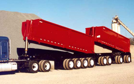 Clement Michigan Trains Steel Rock End Dump Trailers - Tiger General LLC