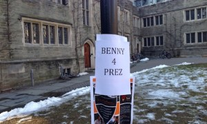 "A Tiger investigation has revealed that the ""Benedict for President"" posters which covered campus in November were paid for by the Vatican treasury through an intermediary Swiss bank account"