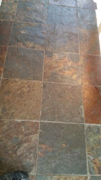 Cleaning and Sealing Rough Chinese Slate Floor Tiles in ...