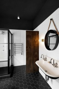 37 black and white hexagon bathroom floor tile ideas and ...