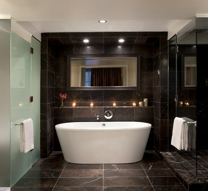 30 black marble bathroom tiles ideas and pictures