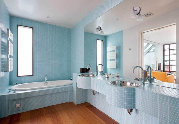 36 baby blue bathroom tile ideas and pictures - blue bathroom ideas