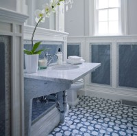 Blue Marble Tiles Bathroom | Tile Design Ideas