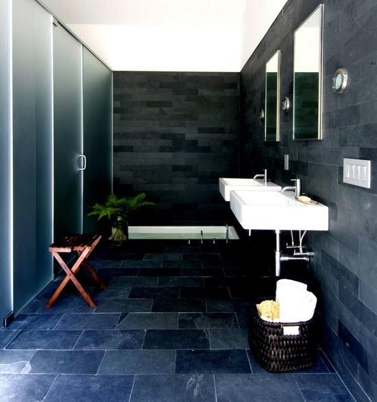 navy blue bathroom floor tiles ideas and pictures - bathroom floor tiles ideas