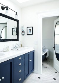 37 navy blue bathroom floor tiles ideas and pictures