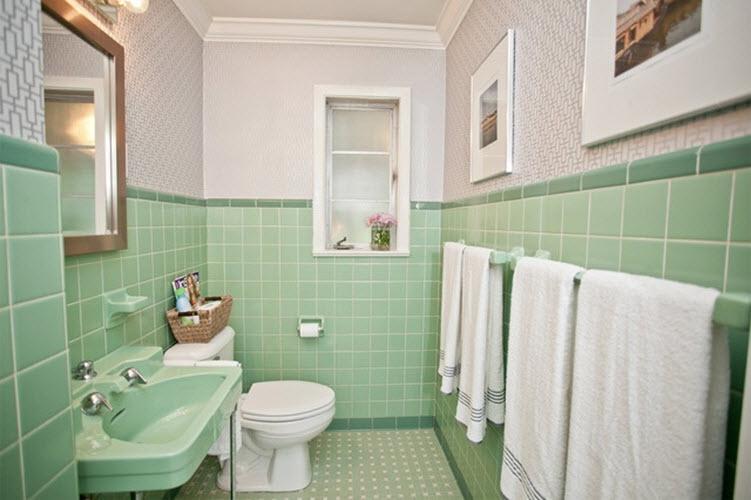 36 retro green bathroom tile ideas and pictures - green bathroom ideas