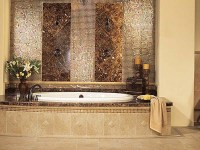 30 great ideas of glass tile for bath
