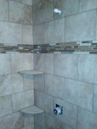 Walk In Shower With Big Tile Pattern | Joy Studio Design ...