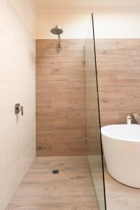 Ceramic Timber Tiles - Bathroom Renovation in Belmont