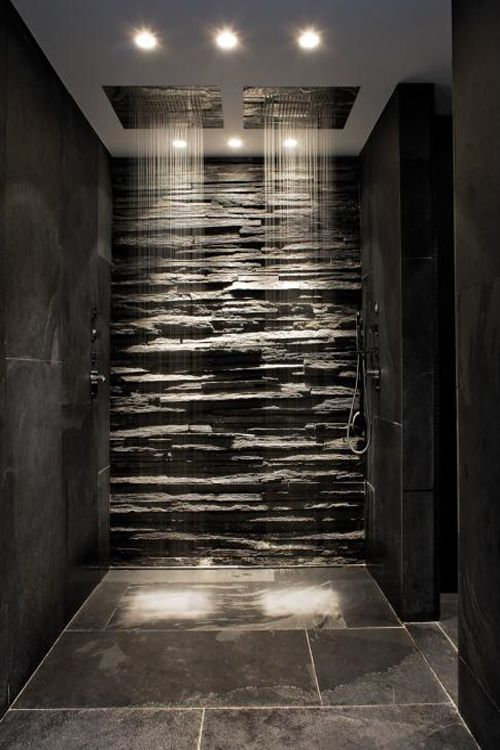 No this is not a bat cave, but the sensuality created by the strong shadows and dark & moody tiles & stone... wow