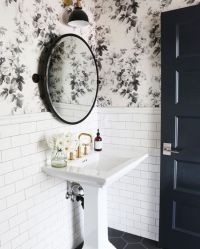 How to Combine Wallpaper and Tiles in the Bathroom - Tile ...
