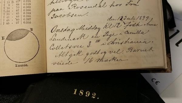 Adolfs innførelse av sitt barnebarn Eva Sofie Charlotte fødsel