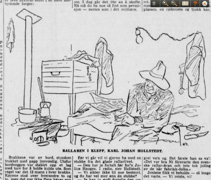 Oldefar Hollstedt i Stavanger Aftenblad 2. oktober 1948