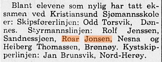 Min far i Nordlands avis i 1954