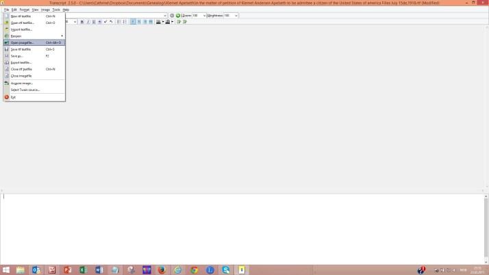 Slik ser programmet ut når du åpner det første gang.