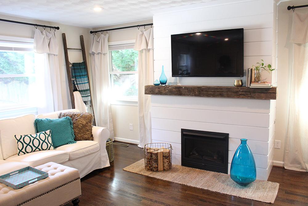 Home Update Shiplap Fireplace Tilley39s Threads
