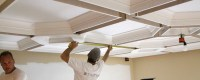 Coffered Ceiling DIY   How To Easily Install a Coffered ...