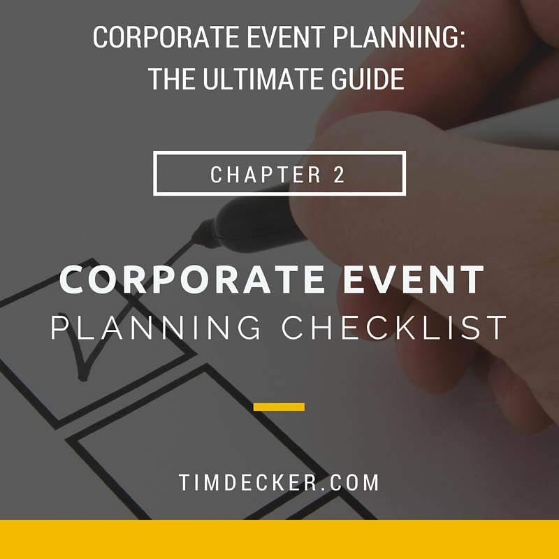 Corporate Event Planning The Ultimate Guide - Tim Decker Speed